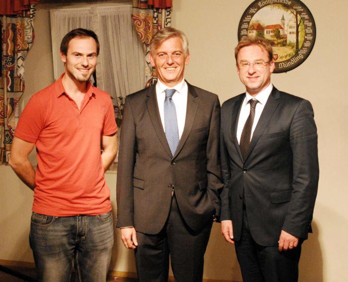 Stephan Geist, Dr. Manfred Schmidt und Wolfgang Fackler MdL